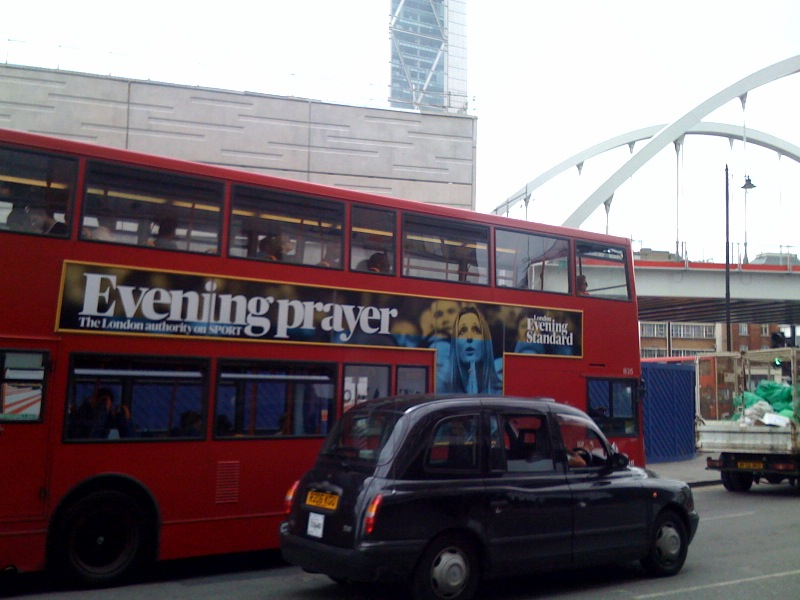 Evening Prayer bus side