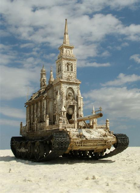 Chris Kuksi_ church_tank